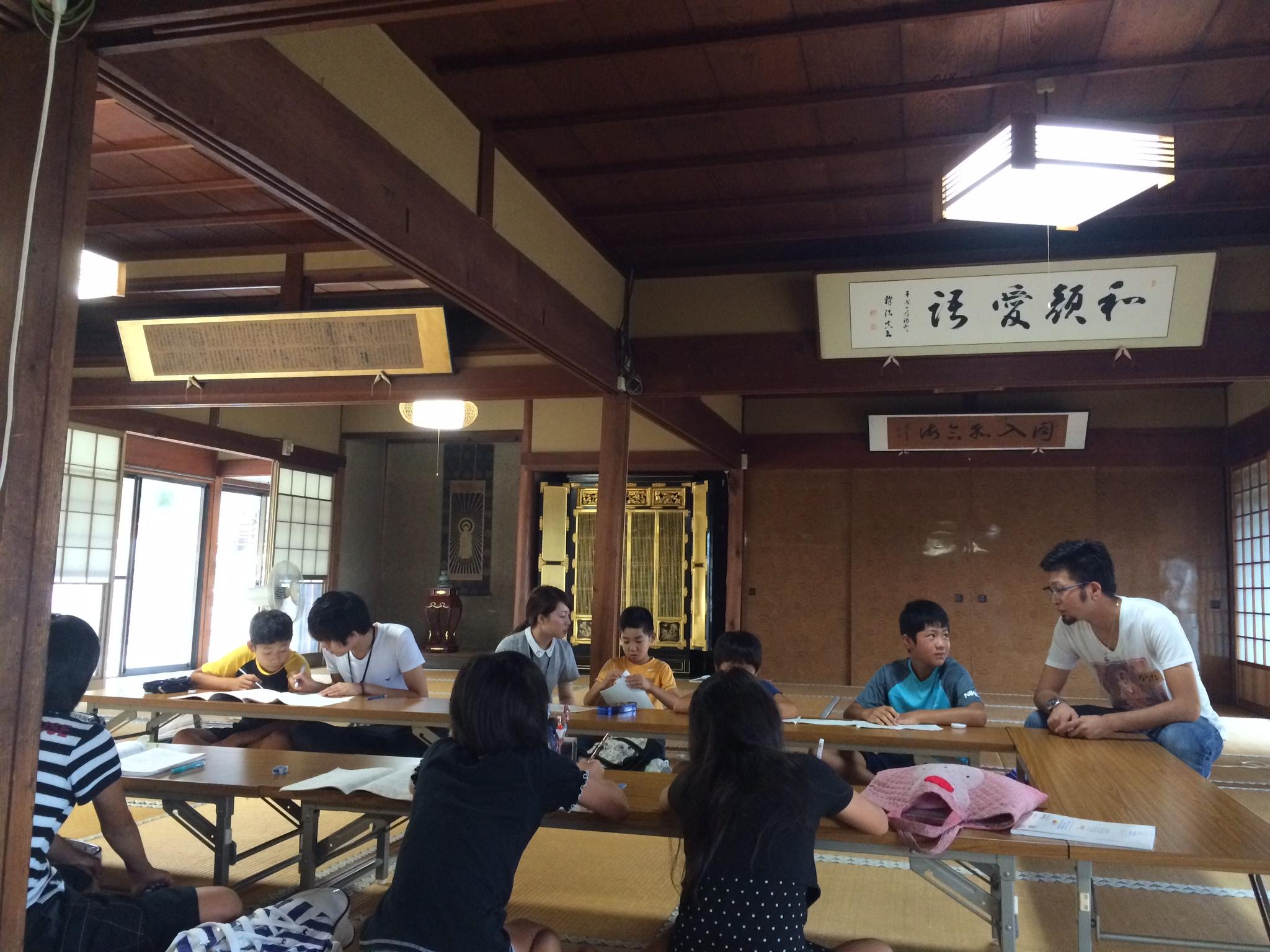 お寺で勉強!